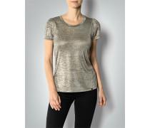 Damen T-Shirt im Metallic-Look