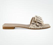 Schuhe Pantoletten mit großer Schleife