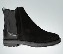 Damen Schuhe Chelsea Boots im Velours-Glattleder-Mix