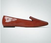 Damen Schuhe Ballerina Lackleder ziegel