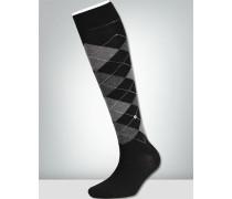 Socken 3er Pack, Kniestrumpf, Agyle schwarz-
