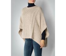 Pullover Cape mit Zopfmuster