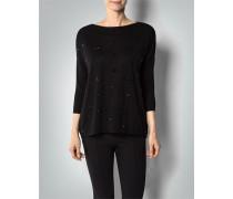 Damen Pullover aus Schurwolle mit Ziersteinen