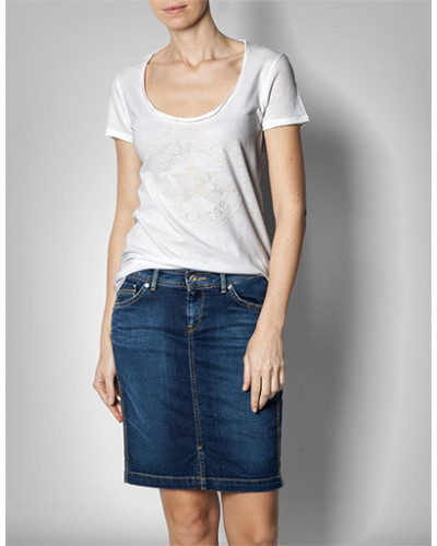 Damen T-Shirt mit flauschigem Druck