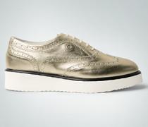 Damen Schuhe Budapester-Sneaker im Metallic-Look