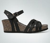 Damen Schuhe Riemensandale mit Keilsohle