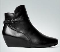 Damen Schuhe Stiefeletten mit überzogenem Keilabsatz schwarz