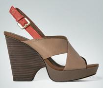 Damen Schuhe Sandale mit Plateau