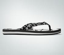 Damen Schuhe Zehensandale im Schwarz-Weiß-Look
