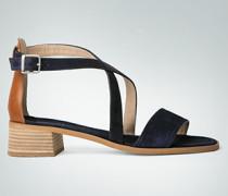 Damen Schuhe Riemchensandalen aus Veloursleder