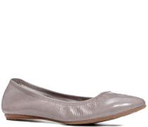 Damen Schuhe Ballerina Lackleder taupe