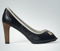 Damen Schuhe Peeptoe im Marinelook