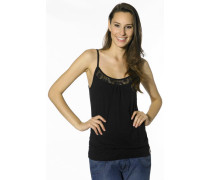 Damen T-Shirt Top Baumwolle black