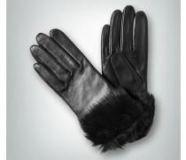 Damen Lederhandschuhe mit Echtfell-Stulpe
