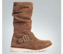 Damen Schuhe Stiefel Nubukleder