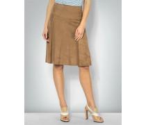 Damen Lederrock mit breiter Formpasse