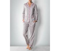 Damen Nachtwäsche Pyjama im Leo-Look