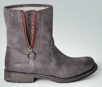 Damen Schuhe Stiefelette mit warmem Kunstfell-Futter