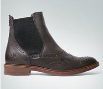 Damen Schuhe Chelsea Boots mit Lochmuster