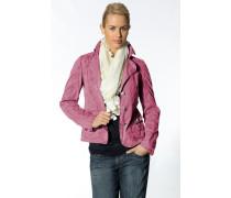 Damen Blazerjacke Baumwollmischung pink