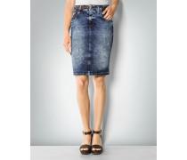 Damen Jeansrock mit Bleich-Effekten