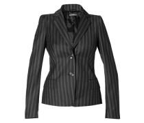 Damen Blazer Schurwolle -schwarz ,schwarz