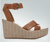 Damen Schuhe Plateau-Wedges aus Nappaleder