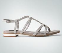Damen Schuhe Riemchen-Sandalen in Glitzer-Optik