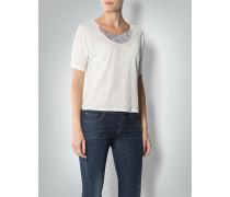 Damen Shirt mit Collier-Besatz