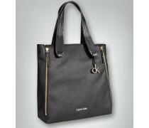 Damen Tote Bag mit vier seitlichen Reißverschlüssen
