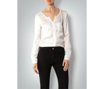 Damen Bluse aus fließendem Satin-Jersey