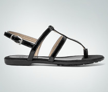 Damen Schuhe Zehensandale im Leder-Mix