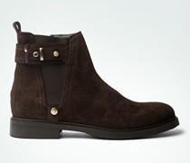 Damen Schuhe Stiefeletten mit Stretch-Einsatz und Zierriemen
