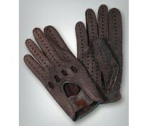 Damen Autohandschuhe aus Peccary-Leder