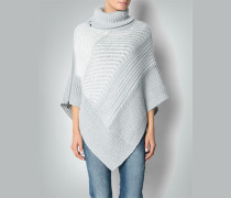 Damen Pullover Poncho mit Reißverschluss
