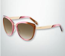 Damen Brille Sonnenbrille in Schmetterlingsform