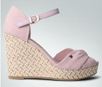 Damen Schuhe Wedges-Sandaletten mit Bastabsatz