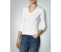 Damen V-Pullover Baumwolle
