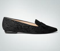 Damen Schuhe Slipper mit floralem Dessin