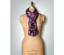 Damen Schal in Crinkle-Optik mit floralem Dessin