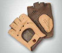 Damen Autofahrer-Handschuhe Peccary Leder kork