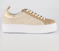 Schuhe Sneaker mit geflochtenem Bast