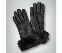 Damen Handschuhe aus Lammnappa mit Kaninchenfellbesatz