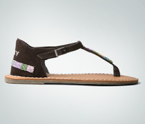Damen Schuhe Zehensandale aus Leder im Ethno- Look