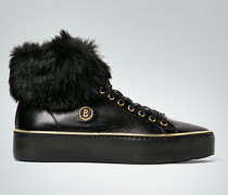 Schuhe Sneaker mit Echtfell-Abschluss