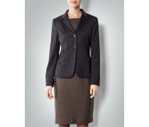 Damen Blazer mit Details in Leder-Optik