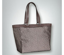 Damen Shopper mit Allover-Logo