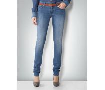 Damen Jeans mit Rauten-Print