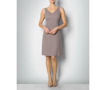 Damen Kleid im Seiden-Crêpe-Mix mit Ziersteinen