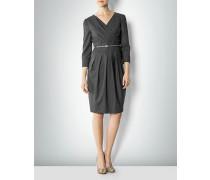 Damen Kleid mit Falten-Drapés an Ausschnitt und Rockteil